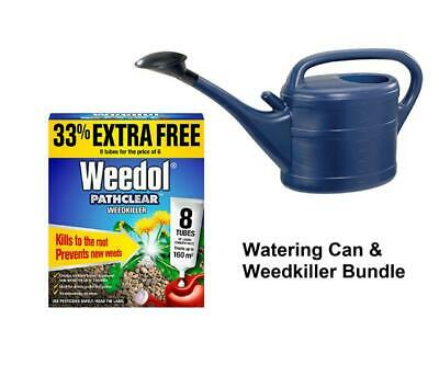 Watering Can & Weedol Pathclear Weedkiller Liquid Concentrate 8 Tubes