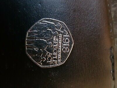 Rare 50p Coin UK – Representation of the People Act 2018 – circulated