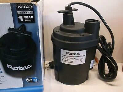Flotec FPDS1300X 1/6HP Submersible Sump/Utility Pump - Open/Inspected & Tested