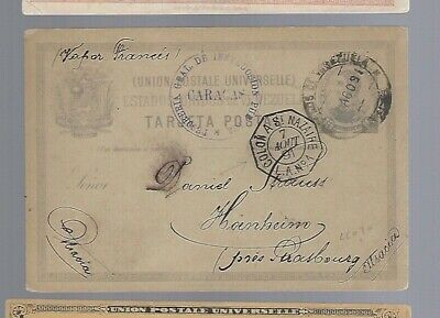 Venezuela to Germany 1891 Colon St. Nazaire French pacquebot cancel