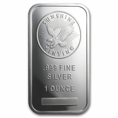 Sunshine Mint | 1 oz Silver Bar | Shipped in Original Mint Packaging