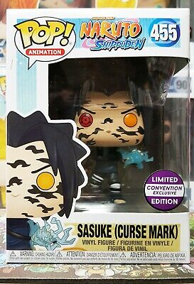 Funko Pop Shippuden Sasuke (Cursed Mark) #455 Exclusive w/ Soft Protector