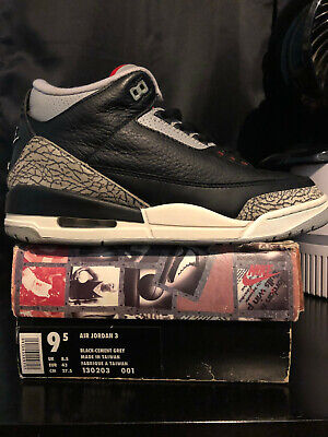 a7cd94d7d58dff 1994 NIKE AIR Jordan Black Cement 3 III Size 9.5 Swapped -  590.00 ...