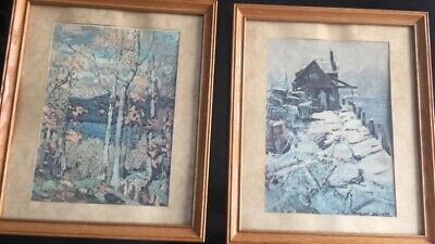 LIPTON TEA FRAME OFFER. 1960's oil on canvas vintage collectibles.