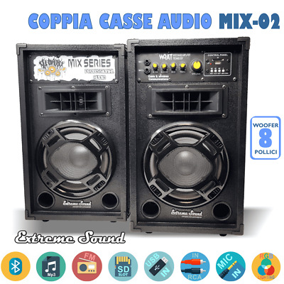 CASSE AMPLIFICATE 1200W USB - BLUETOOTH - Radio KARAOKE DJ EXTREME SOUND MIX-02G