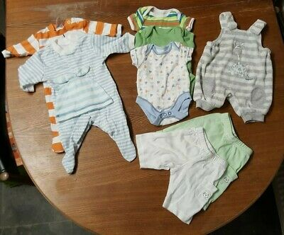 Premature Early Baby Boy Clothes Bundle mostly Tesco