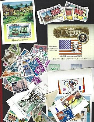 LIBERIA sc#703-8 x2 #C207 Sheet (1975) MNH + nice lot  8 Oz.