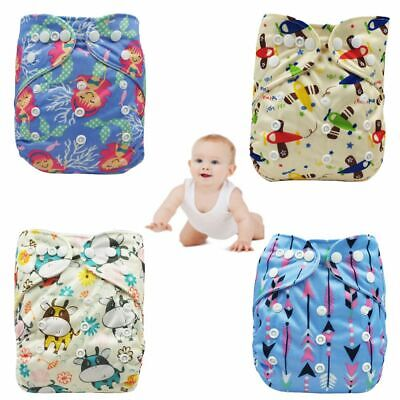 Breathable Leakproof Cute Washable Cloth Baby Diaper Pocket Nappy Reusable