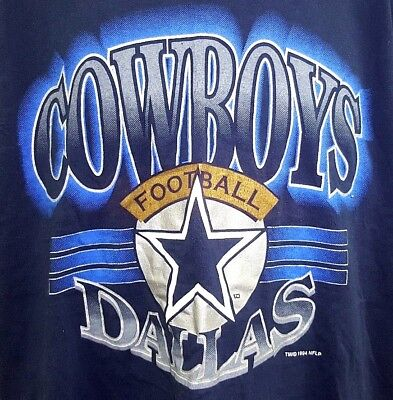 Vintage 90 s Trench Dallas Cowboys NFL Football T-Shirt Men s XL Navy Blue abc5a1b84