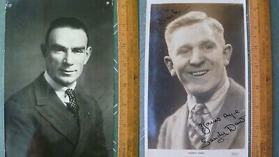 Vintage Scottish Music Hall Greats Tommy Lorne and Sandy Daw  Signed Photographs