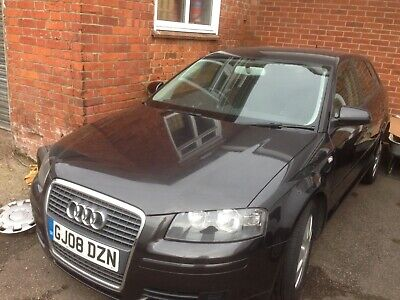 Audi A 3 2008 spares or repair 1.8 tfsi Black Very tidy with Mot Non Runner