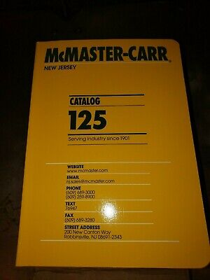McMaster Carr Catalog #125 Brand New Jersey Edition tool industrial