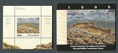 Canada Revenue Wildlife Conservation Stamp Ow3 Mint Mini Sheet