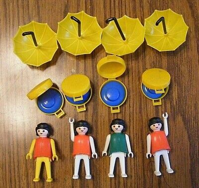 lot of 2 yellow adult hats for women vintage 0332 Playmobil