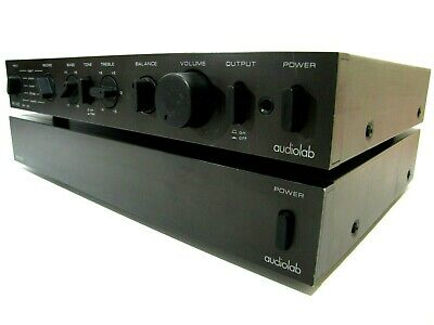 Audiolab 8000C Preamp + 8000P Power amplifier Vintage British STEREO AMP & PRE