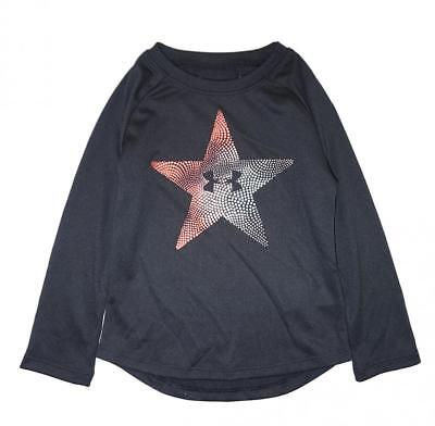 Under Armour Toddler Girls Black Star Logo Dry Fit Top Size 2T $24.99