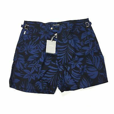 c6c6c9f2db NWT $580 TOM FORD Men's Blue Floral Print Lux Swim Trunks Shorts 36 52  AUTHENTIC