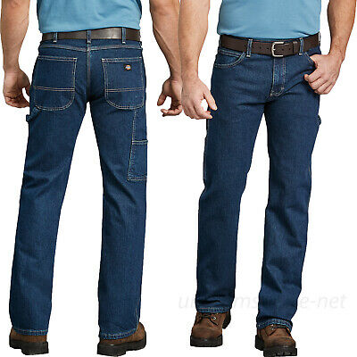 6ce8ad81413058 Dickies Work Jeans Mens FLEX Relaxed Fit Straight Leg Carpenter Denim Jeans