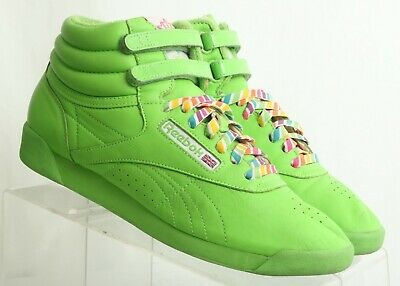 Reebok Freestyle 25th Reign-Bow Green High Top Sneakers 176159 Women s US  8.5 6e2f47807