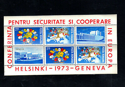 ROMANIA #2435-2436a  1973 EUROPEAN SECURITY COOPERATION   MINT VF NH O.G  SHEET