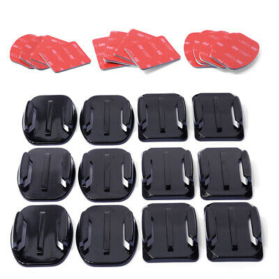Top Quality 12pcs Flat Curved Mount+ Adhesive Sticky for Gopro Hero 3 3+ 4 OS180