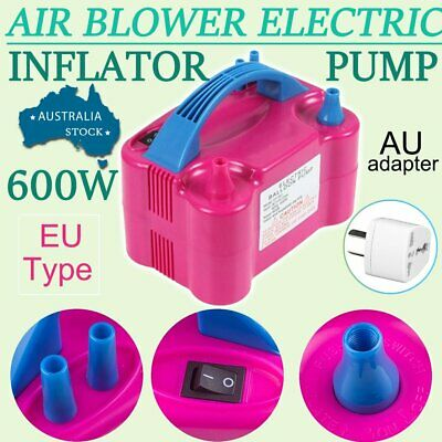 Portable 600W High Power Two Nozzle Air Blower Electric Balloon Inflator Pump 5T