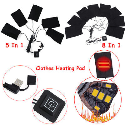 Carbon Fiber USB Temperature  Heating Pads Thermal Clothes Winter Warmer Tool