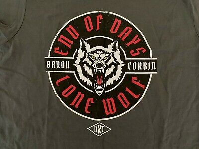 best website fb408 1c124 Baron Corbin End of Days Lone Wolf T-Shirt NXT Women s XL Extra Large WWE