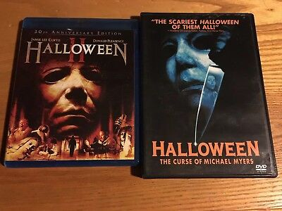Halloween 2 II Blu-ray 30th Anniversary, The Curse Of Michael Myers 6 DVD Lot