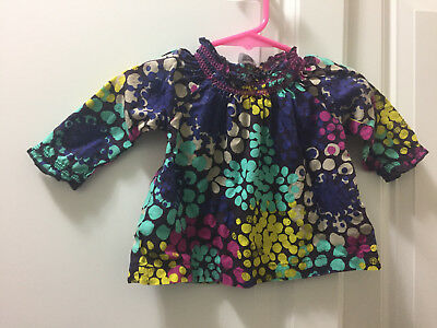 Carter's Top Long Sleeve Floral Size 6 Months