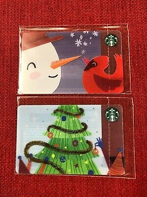2 New Starbucks 2018 Russia Christmas Gift Cards Lot Sealed Limited
