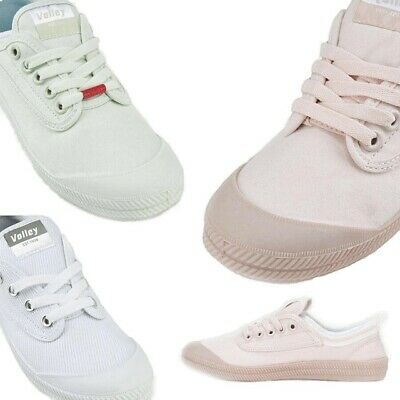 INTERNATIONAL VOLLEY WOMENS Volleys Canvas Casual Shoes White Pink Mint Blush
