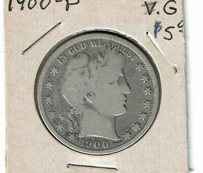 1900, 1912-S, 1913-S  Barber Half Dollar Silver Coins Lot of three