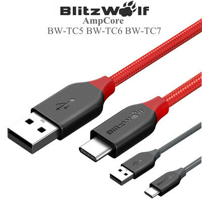 BlitzWolf 3A 1-2.5M USB Type-C Braided Fast Charging USB Data Cable FOR Andriod