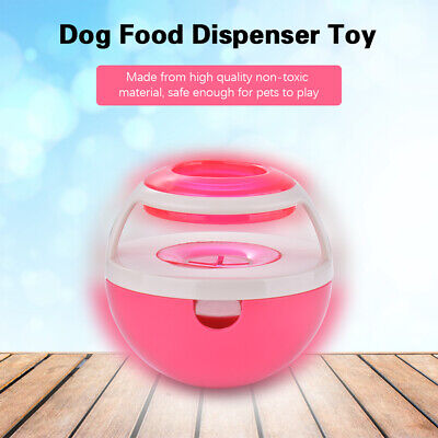 Dog Food Toy Dispenser Interactive Tumbler Feeder Durable Chew Ball Red PS338