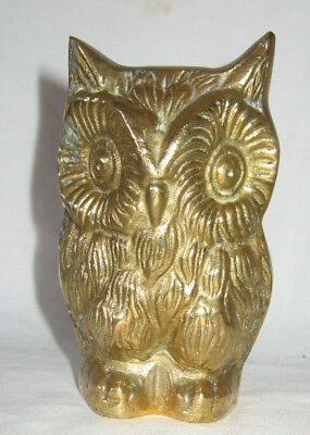 Brass Owl Paper Weight Collectible - Figurine