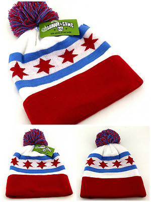 1354b5431ff Chicago Leader New Beanie Knit City of Flag Cubs White Blue Red Era Hat Cap
