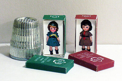 Dollhouse Miniature 1:12  Girl Scout and Brownie Scout Doll Box Set