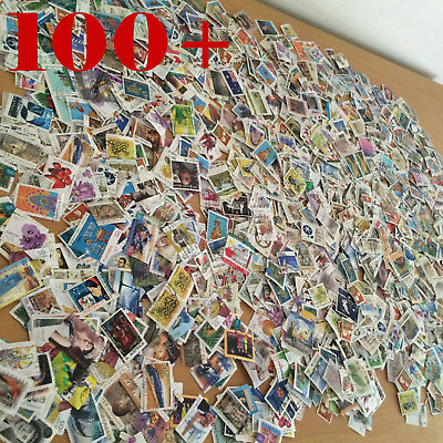100+ off Paper Mixed Different Australian STAMPS Recent Old BULK Kiloware
