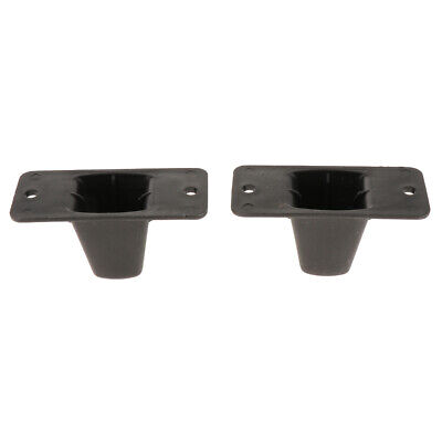 Replacement Part Plastic Luggage Side Stud Foot Feet Pad Black