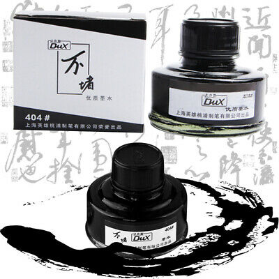1 Bottle Pure Black Hero Dux 50ml 404 Ink Fountain Pen Writing Ink Non Carbon