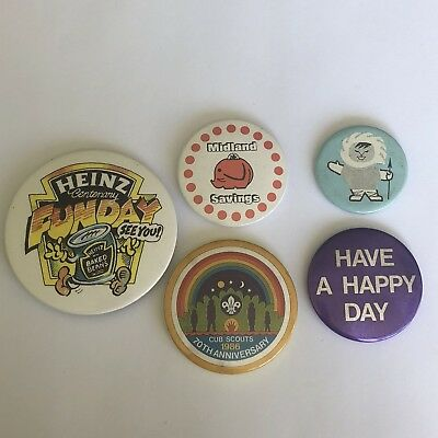 Job Lot of Vintage Retro 1980s collectable button pin badge