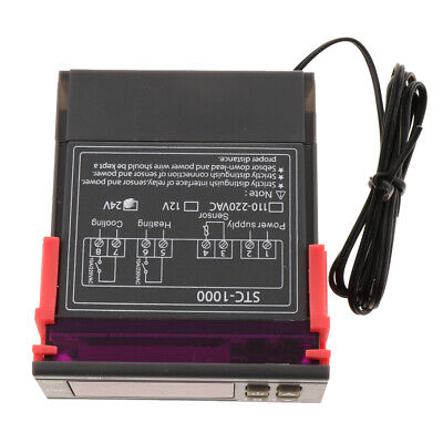 Digital stc-1000 Temperature Controller C/F Thermostat 10A Relay Output 24V