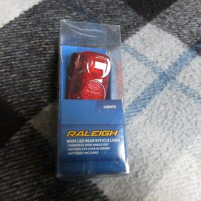 pair of raleigh led rear bike light boxed and tested