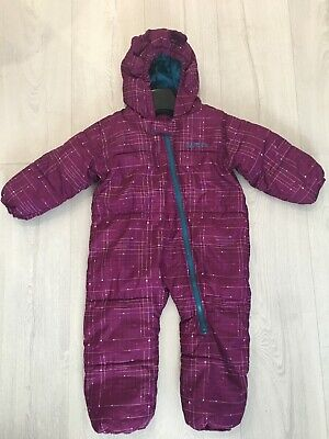 Dare2b purple padded girls snowsuit All In One Age 12-18 Months