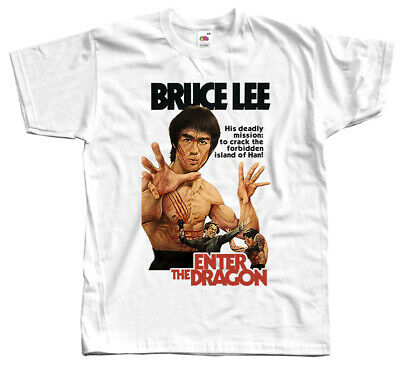 Bruce Lee- Enter The Dragon, 1973, T-SHIRT WHITE all sizes S-5XL