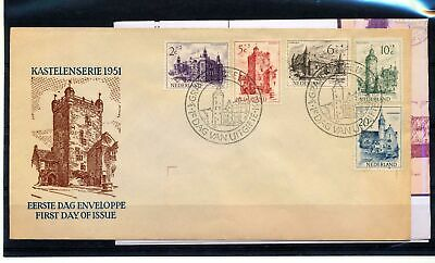 Netherlands 1951 FDC Cover+Sheet (ST 186s