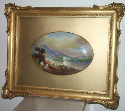 Paragon China Hand Painted Signed F.micklewright Plaque Framed