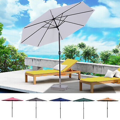 Outsunny  Parasol de jardin inclinable