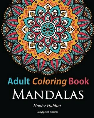 Mandala Adult Colouring Book 50 Design Relaxing Color Therapy Stress Relief Calm
